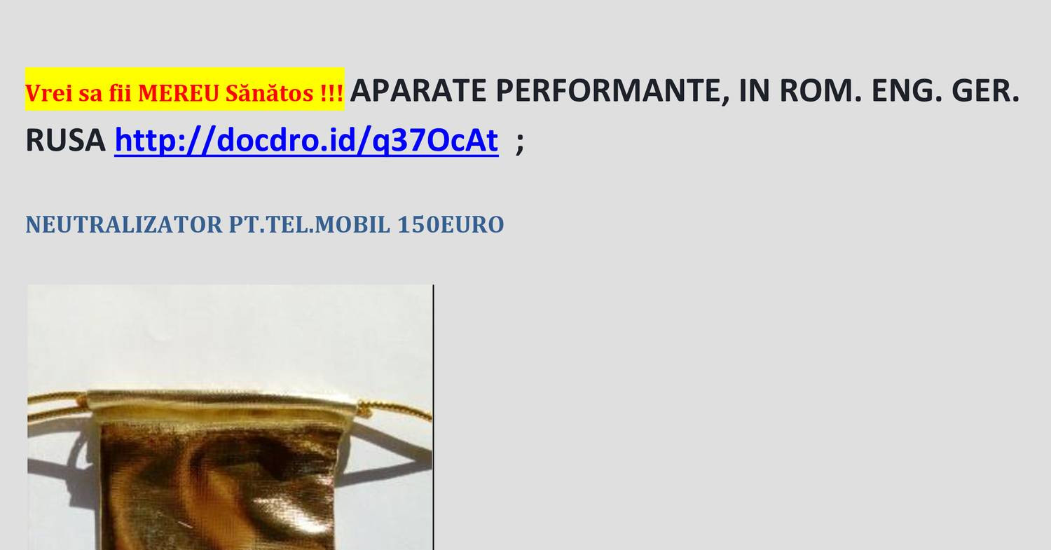 1Aparate performante IN GER. ENG. RUSA  pentru sanatate.docx | DocDroid
