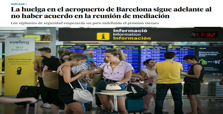 Grevă generală pe aeroportul El-Prat din Barcelona | Diaspora Madrid