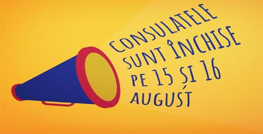 Consulatele sunt închise pe 15 și 16 august | Diaspora Madrid