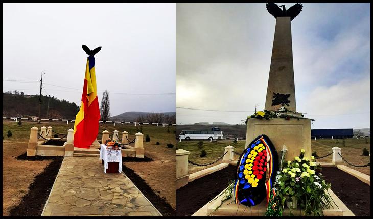 Monument al eroilor români din Primul Război Mondial, distrus de sovietici, refăcut și inaugurat la Rezina în Republica Moldova - Glasul.info