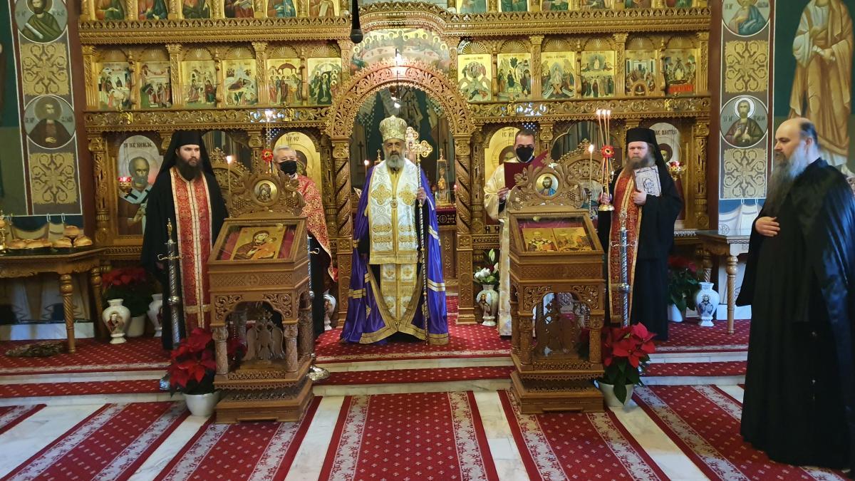 """Alegerea și instalarea noului stareț al Mănăstirii """"Sfântul Mare Mucenic Dimitrie"""" de la Sighișoara   Reîntregirea"""